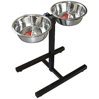 Ica Adjustable Double Steel Feeder (Dogs , Bowls, Feeders & Water Dispensers)