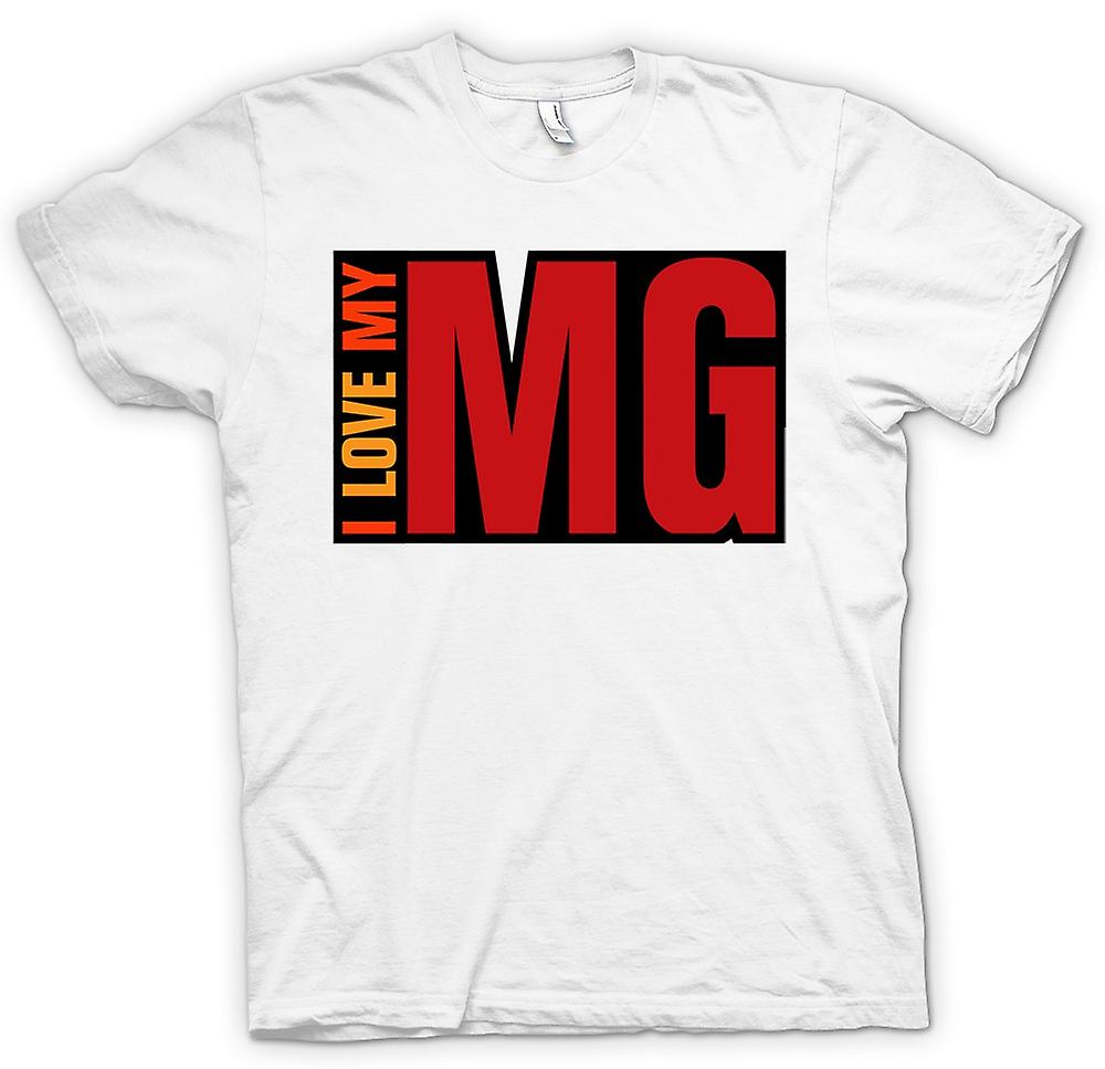 Mens T-shirt - I Love My MG - Car Enthusiast
