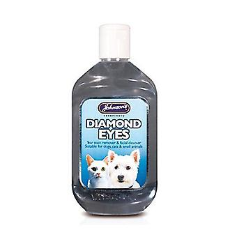 Johnsons Diamond Eyes Tear Stain Remover for Cats & Dogs 250ml 350g - 6 pack