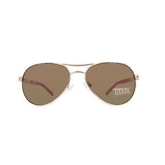 Guess sunglasses GU0124T-GLD-54 GOLD PINK