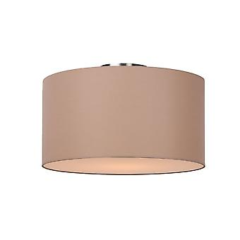 Lucide Lucide CORAL Flush Drum Ceiling Light Shade Taupe