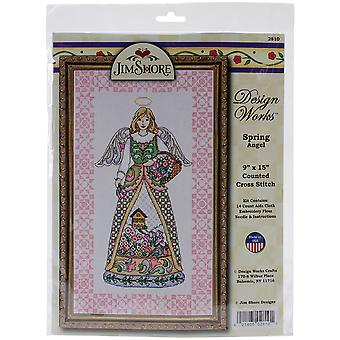 Spring Angel By Jim Shore Counted Cross Stitch Kit-9