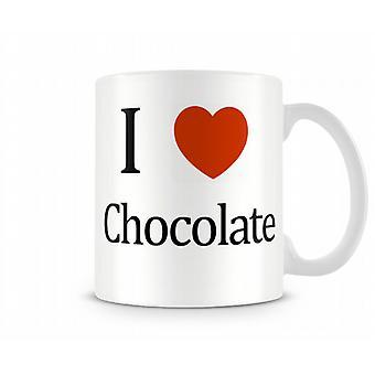 I Love Chocolate Printed Mug