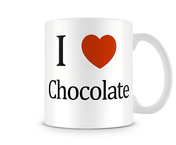 I Love Chocolate Printed Mug