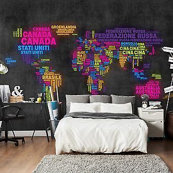 Fond d'écran - carte, italien - couleurs