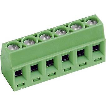 PTR AKZ602/6-3.81-V Screw terminal 1.00 mm² Number of pins 6 Green 1 pc(s)