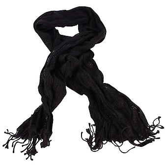 Bassin and Brown Humphreys Textured Wool Scarf - Black/Grey