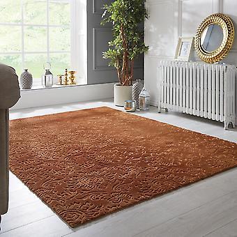 Barada Damaskus guld rektangel mattor Plain/nästan slätt mattor