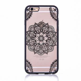 Mandala mobile caso per Apple iPhone 6s plus motivo custodia cover design del paraurti nero indiano coperchio superiore