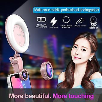 UNI. Skönhet kamera 4 K HD vidvinkel lins makroobjektiv för smarttelefon