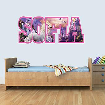 Customisable UNICORN Childrens Name Wall Art Decal Vinyl Stickers for Boys/Girls Bedroom