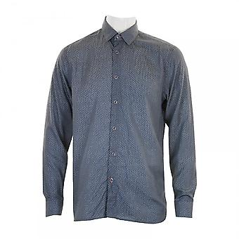 Ted Baker Mens Mikeo Dotted Circle Shirt (Navy)