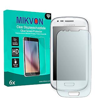 Samsung I8190 Galaxy S3 mini Crystal Edition Screen Protector - Mikvon Clear (Retail Package with accessories) (intentionally smaller than the display due to its curved surface)
