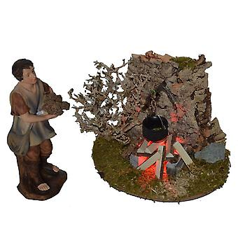 Nativity accessories stable Nativity set Shepherd Nativity accessories campfire