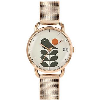 Orla Kiely | Ladies Avery Stem | Rose Gold Mesh stroppen | OK4082 Watch