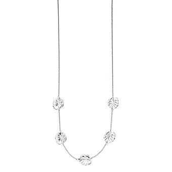 Elements Silver Cheese Plant Leaf Necklace - Silver