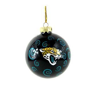 Jacksonville Jaguars NFL Swirl Ornament