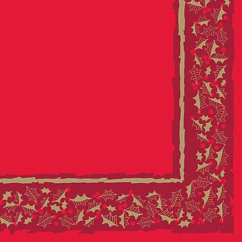 Red Twelfth Night Christmas Napkins 3 ply 40cm