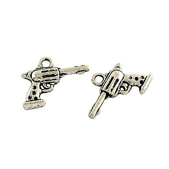 Paquete 15 x antiguos plata tibetana 20mm Gun encanto/colgante ZX14570