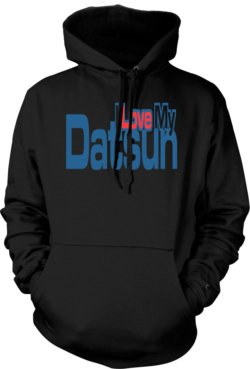 Mens Hoodie - I Love My Datsun - Car Enthusiast