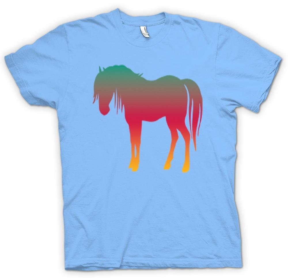 Mens t-shirt-Rainbow Design cavallo psichedelico