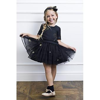 Black tulle girl dress