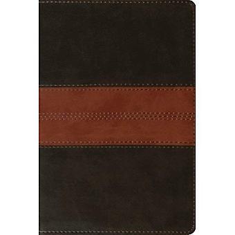 Bíblia de referência de ESV pessoais (Trutone, Brown/Tan profundo, trilha de Design)