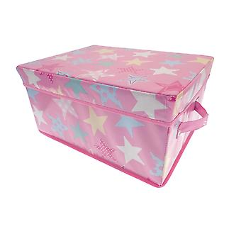 Country Club Pop Up Storage Boxes, Pink Multi Stars