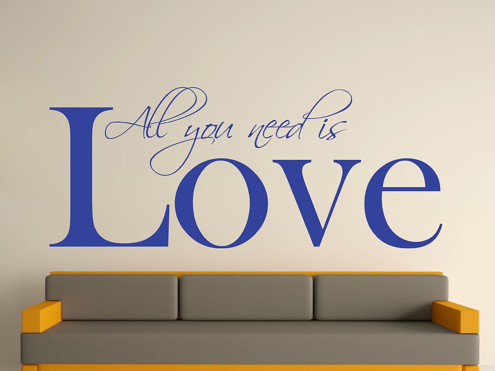 All You Need Wall Art Sticker - Brilliant Blue