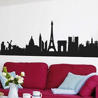 Parijs SKYLINE WALL ART STICKER - groot