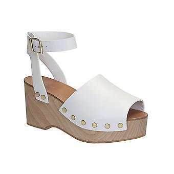 Céline White Leather Sandals