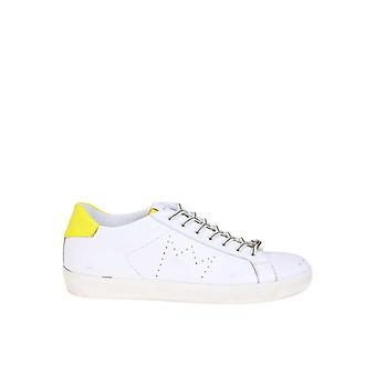 Leather Crown White Leather Sneakers