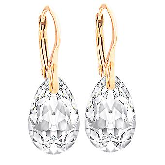 Women's Clear 16mm Crystals From Swarovski Hand Crafted Earrings