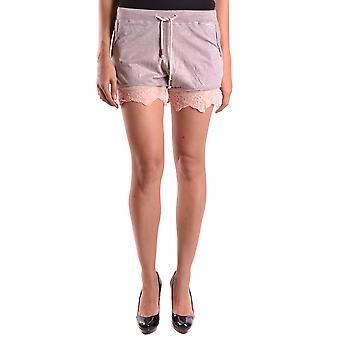 Jijil Grey Cotton Shorts