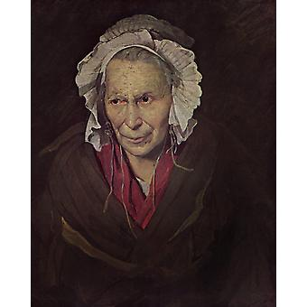 The Madwoman or the Obsession of Envy,Theodore Gericault,50x40cm