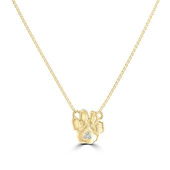 University Of Pittsburgh - Pitt Panther Paw Diamond During In 14K Yellow Gold