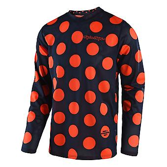 Troy Lee Designs Navy-Orange 2018 GP Air Polka Kids MX Jersey