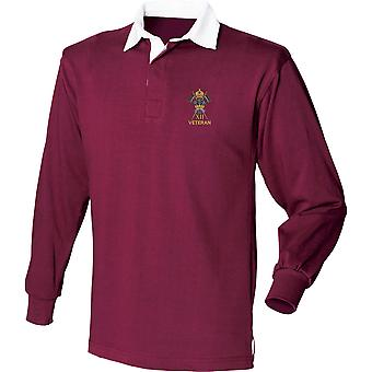 12th Royal Lancers Veteran - Licensed British Army Embroidered Long Sleeve Rugby Shirt