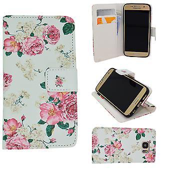 Samsung Galaxy A5 2016-cases/portefeuille en cuir-fleurs