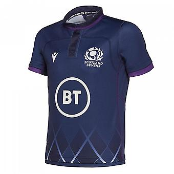 2019-2020 Scotland 7s Poly Home Rugby Shirt