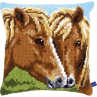 Horses Cushion Cross Stitch Kit-15.75