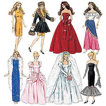 Fashion Doll Clothes  One Size Only Pattern M6232  Osz