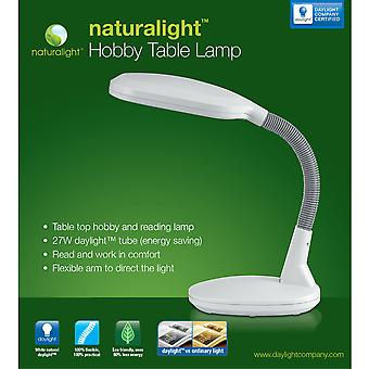 Naturalight Hobby Table Lamp White Un1062