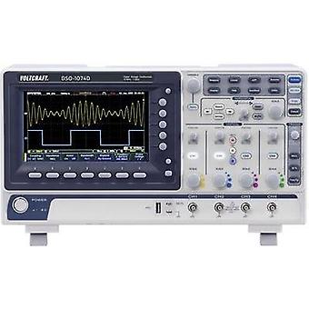 Digital VOLTCRAFT DSO 1074D 70 MHz 4-kanals 250 null 10 null 8 Bit Digital lagring (DSO), Spectrum analyzer