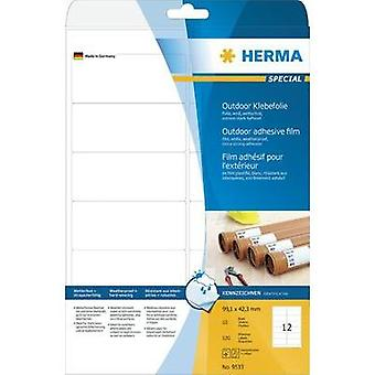 HERMA Labels A4 outdoor film 99.1x42.3 mm white extra strong adhesion film matt weatherproof 120 pcs. Herma 9533