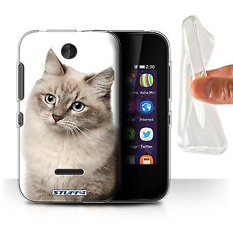 STUFF4 Gel/TPU Case/Cover for Nokia Asha 230/Siberian/Cat Breeds