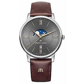 Maurice Lacroix Mens Eliros Brown Leather Strap EL1108-SS001-311-1 montre