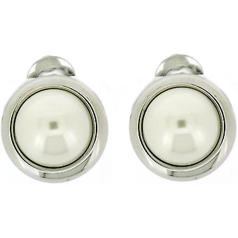 Clip On Earrings Store Classic Silver Plated & Round Pearl Button Clip On Earrings