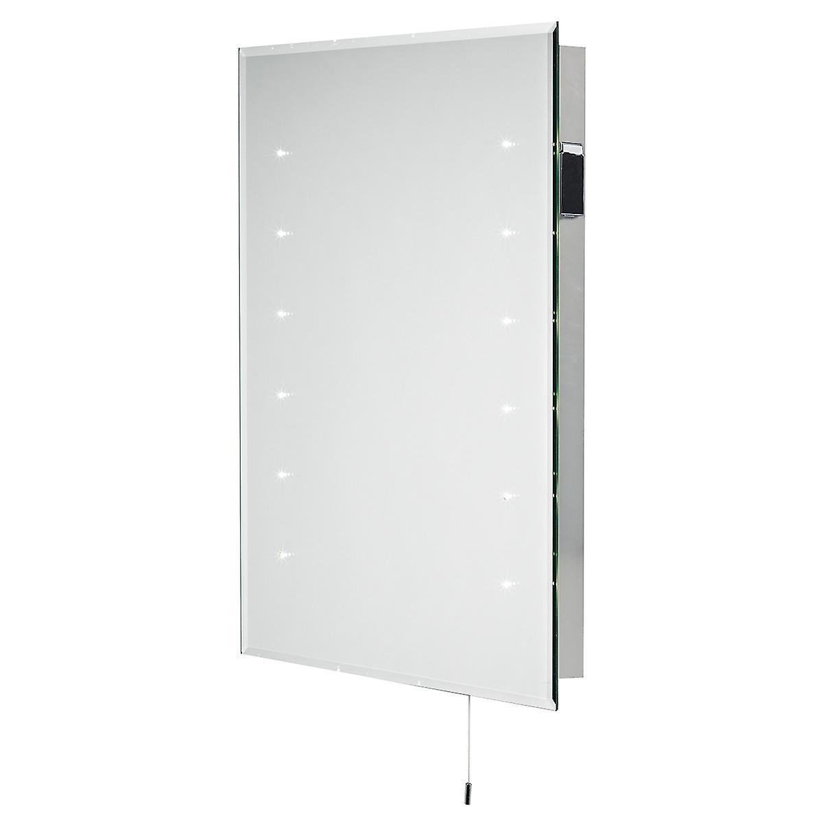 Dar DIA94 Diamond Led Slim Line Bathroom Mirror With Shaver Socket