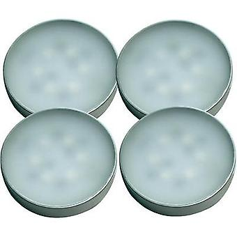 LED surface-mount light 4-piece set 7 W Warm white Müller Licht 57007 Silver